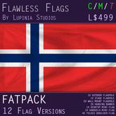 Norway Flag (Fatpack, 12 Versions)