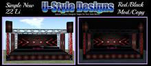 U-Style Designs New Red/Black Stage