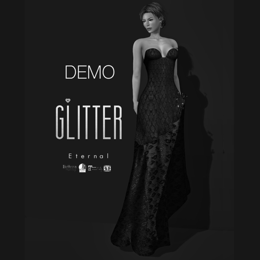 Glitter DEMO Eternal Fitmesh Gown Fishcale with removal laced skirt