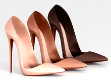 Salvadori - Nude 'Parker' Leather Pumps