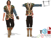 SAVE Full Perm Mens Epic Medieval Armoured Pirate Full Outfit Top Pants Boots Slink Male, Belleza Jake, Signature Gianni