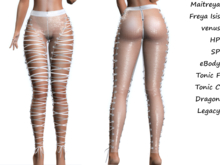 ~PP~  Sheer Shimmering Laced Up Tights - Mesh