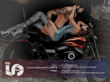 ACT5-477-Couple Motorcycle Sit 4 Pose BOXED
