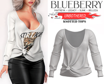 Blueberry - Unbothered - Oversized Tops - White