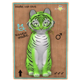 KittyCatS Box - Tiger! Tiger! - Lime - BOY - COLLECTIBLE !