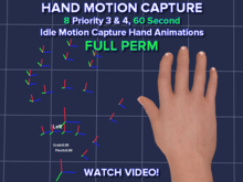 ASA 8 Hand Motion Capture Idle Animations 60 Seconds Each