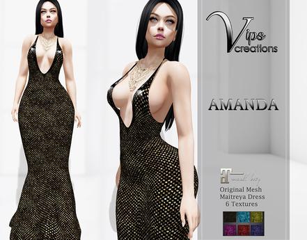 [Vips Creations] - Original Mesh Dress - PROMO [Amanda A]HUD-Maitreya Gown