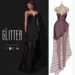 Glitter Eternal Fitmesh Gown Fishcale Pink with removal skirt