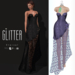 Glitter Eternal Fitmesh Gown Fishcale Mauve with removal skirt