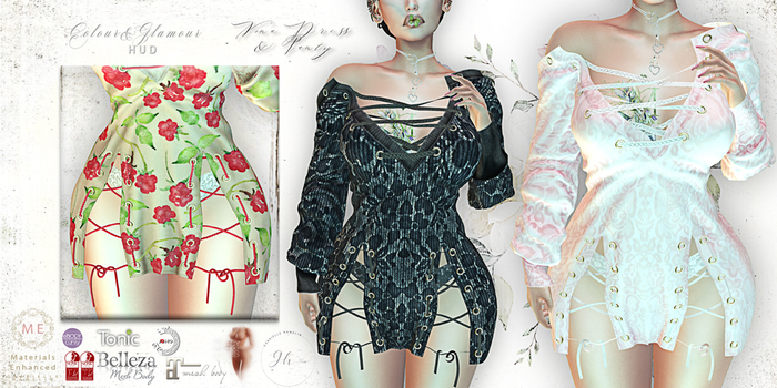 ♥ {GH} ♥ Nona Lace Embossed Dress & Panty Duo