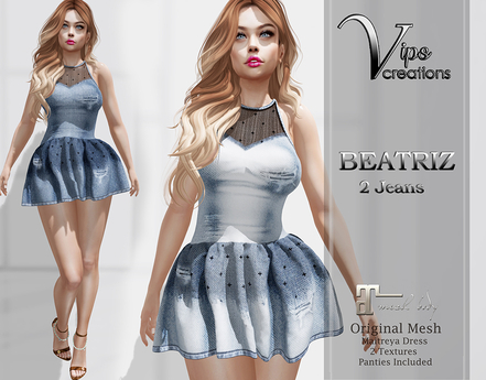 [Vips Creations] - Original Mesh Dress-[Beatriz-Jeans]-Maitreya