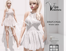 Vips Creations]-DEMO-Original Mesh Dress-[Beatriz-White Lace]-Maitreya