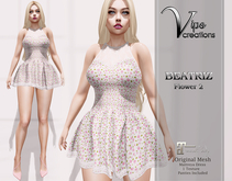 [Vips Creations] - Original Mesh Dress-[Beatriz-Flower 2]-Maitreya