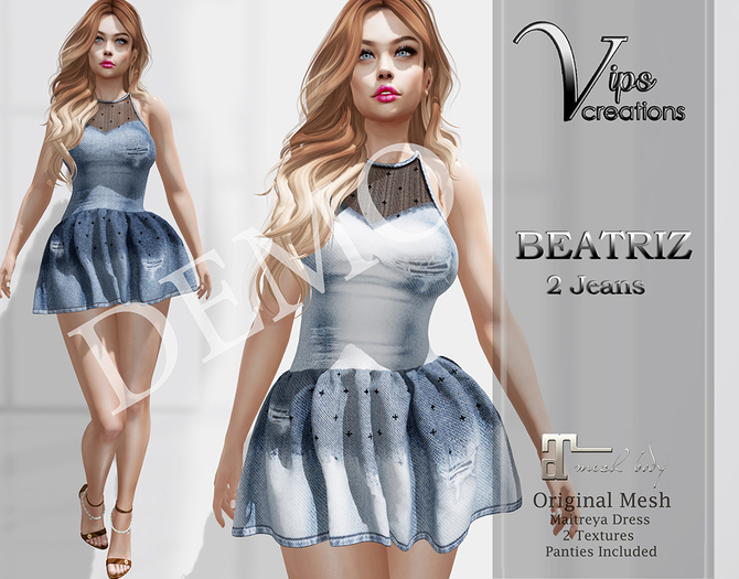 [Vips Creations]-DEMO-Original Mesh Dress-[Beatriz-Jeans]-Maitreya