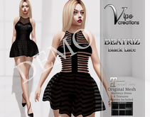 [Vips Creations]-DEMO-Original Mesh Dress-[Beatriz-Black Lace]