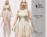 [Vips Creations] - Original Mesh Dress-[Beatriz-Beige Satin 4]-Maitreya