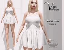 [Vips Creations] - Original Mesh Dress-[Beatriz-White Satin 3]-Maitreya