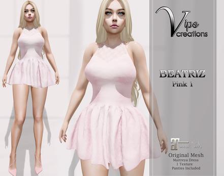 [Vips Creations] - Original Mesh Dress-[Beatriz-Satin 1]