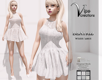 [Vips Creations] - Original Mesh Dress -[Beatriz-White Lace]HUD-Maitreya