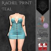**Mistique** Rachel Print Teal (wear me and click to unpack)