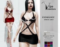 [Vips Creations] - DEMO - Original Mesh Dress - [Heather1]-Maitreya