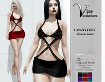[Vips Creations] - Original Mesh Dress - [Heather1]HUD-Maitreya