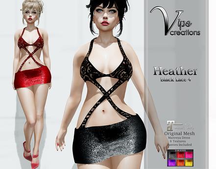[Vips Creations] - Original Mesh Dress - [Heather4]HUD-Maitreya