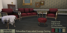 Eclectica Curiosities- Edwardian Cane-sided Lounge Setting