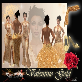 Golden Valentine dress (boxed)