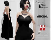 [Vips Creations] - Original Mesh Dress - [Medea] - FITTED MESH