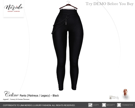 ~Nerido~ Celine Pants-Black