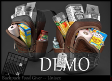 *.* BackPack Food Giver DEMO