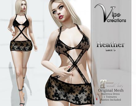 [Vips Creations] - DEMO - Original Mesh Dress - [Heather5]-Maitreya