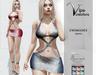 [Vips Creations] - Original Mesh Dress - [Heather-Silver]HUD-Maitreya