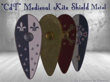"""CdT""  Medieval Kite Shield Metal"