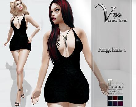 [Vips Creations] - Original Mesh Dress - [Angelina1]HUD-Maitreya