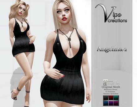 [Vips Creations] - Original Mesh Dress - [Angelina2]HUD-Maitreya