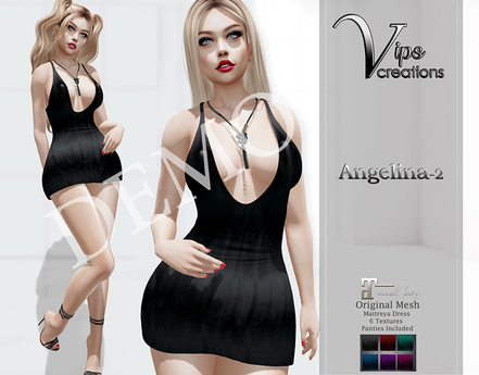 [Vips Creations] - DEMO -Original Mesh Dress - [Angelina2]-Maitreya