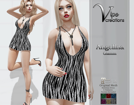 [Vips Creations] - Original Mesh Dress[PROMO] - [Angelina4-Glitter]HUD-Maitreya