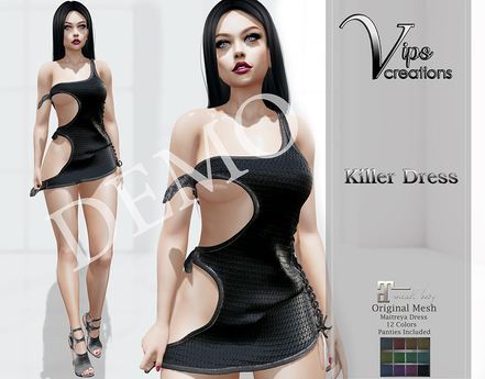 [Vips Creations] - DEMO - Original Mesh Dress - [Killer Dress]
