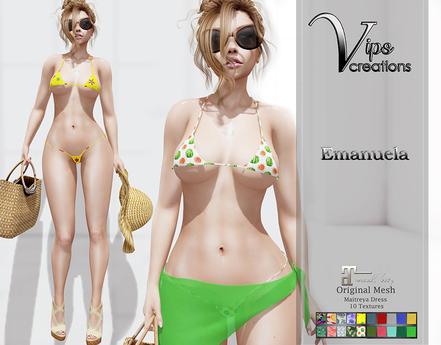 [Vips Creations] - Original Mesh Dress  - [Emanuela]-Maitreya-Bikini
