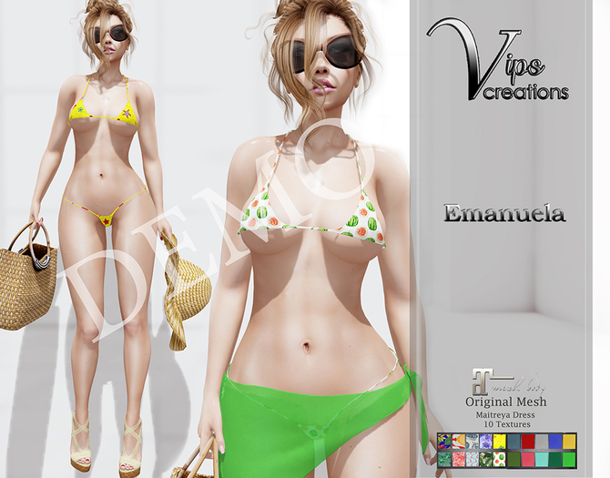 [Vips Creations] - DEMO - Original Mesh Dress - [Emanuela]