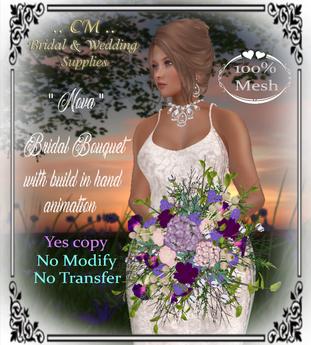 ..CM..Nova - Bridal Bouquet - Violet ADD ME