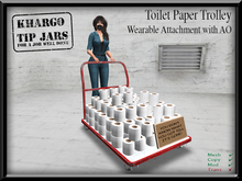 ~Khargo~ Toilet Paper Trolley - wearable attachment with AO