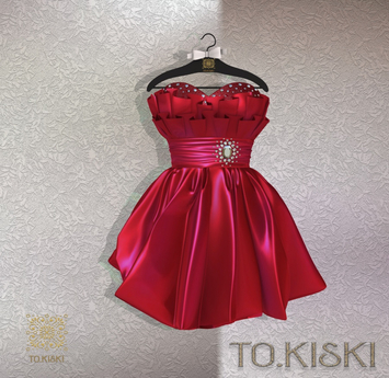 TO.KISKI - Lady Cocktel Dress / Red Box (add me)