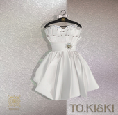 TO.KISKI - Lady Cocktel Dress / Dove Box (add me)