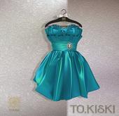 TO.KISKI - Lady Cocktel Dress / Aqua Box (add me)