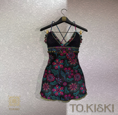 TO.KISKI - Siren Mini Dress / Flowers (add me)