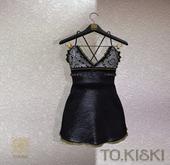 TO.KISKI - Siren Mini Dress / Black (add me)