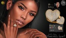 [ SpotCat ] Diamonds heart - Bento ring